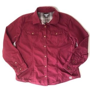 Carhartt Jacket Button Up Flannel Lined